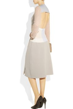 Jil Sander|Paneled cashmere-blend dress|NET-A-PORTER.COM