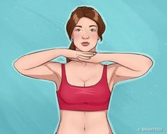 10 Easy Exercises For Beautiful Arms and Tight Breasts.The French television presenter and author of the bestseller, Camille Volaire,developed a set of exercises for beautiful breasts, Chest Muscles, Back Muscles, Effective Ab Workouts, Easy Workouts, Fit Girl Motivation, Fitness Motivation, Breast Muscle, Total Ab Workout, Tv Star