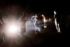 flash and sparklers