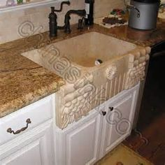 Carved Stone Sinks Kitchen   Bing Images