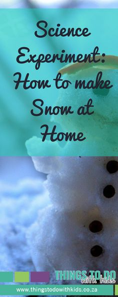 Science Experiment for Kids | How to make your own snow | Home Entertainment Activity | Things to do with Kids | Arts & Crafts | Activity with Kids