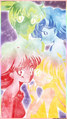 Four Senshi - iPhone Wallpaper by soapboxinggeek on deviantART Watch Sailor Moon, Sailor Moon Fan Art, Sailor Pluto, Sailor Moon Crystal, Sailor Jupiter, Sailor Mars, Sailor Moon Wedding, Sailor Moon Wallpaper, Sailor Mercury