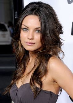 Mila Kunis ombre hair. Think I will do this :)