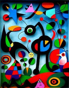 Joan Miró (1893-1983): The Garden (1925) - I try to apply colors like words that shape poems, like notes that shape music... The painting rises from the brushstrokes as a poem rises from the words... The meaning comes later...