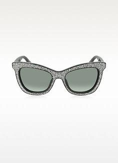 JIMMY CHOO Flash S F18Hd Black Silver Glitter Women S Sunglasses.   jimmychoo  flash 67f8ab5c7671