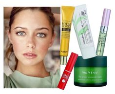 """Dewy Skin & Juicy Lips 👄👀💋"" by niniko-cosmetics ❤ liked on Polyvore featuring Innisfree, Skinfood, Etude House, SkinFoodRoyalHoneyEyeCream, InnisfreeGreenTeaSeedCream, EtudeHouseMyLashSerum, InnisfreeEcoNaturalaBB and SkinFoodTomatoJellyTintLip"