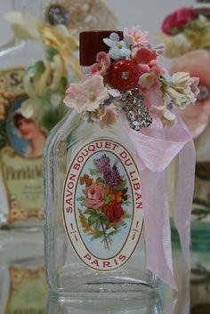 French Inspired Vintage Bottle