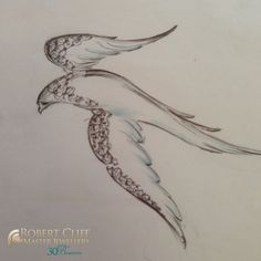 #ThrowbackThursday: Bespoke white gold, #diamond and enamel dove sketch #design. Simply beautiful!