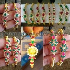 Jewellery Designs: Heavy Look Colorful Light Weight Bangles