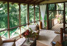 Hillside tree houses at Caves Branch jungle lodge