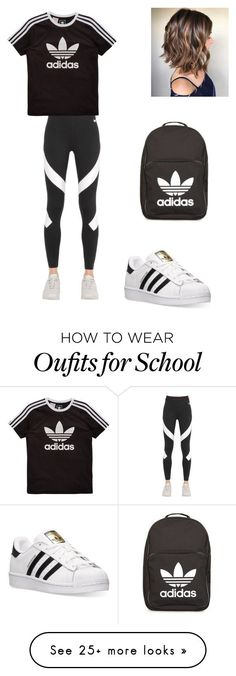 """The middle schooler #4"" by ruby-rubird on Polyvore featuring adidas, NIKE and adidas Originals"