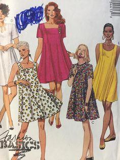 Trapeze Dress McCall's 5441 1990's Sewing Pattern