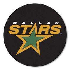 Dallas Stars puck shaped floor mat