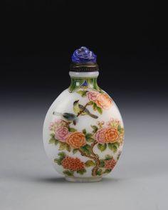 Chinese Enameled Peking Glass Snuff Bottle : Lot 331