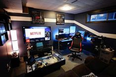 Cool Gaming Rooms For Guys - Best Video Game Room Ideas: Cool Gaming Setup Desig. Cool Gaming Rooms For Guys - Best Video Game Room Ideas: Cool Gaming Setup Designs, Gamer Room Decor, and Apartment Decorating Ideas - Bedroom, Living Room, Small Room Best Gaming Setup, Gaming Room Setup, Gaming Desk, Computer Setup, Gaming Rooms, Pc Setup, Gaming Furniture, Gamer Setup, Computer Room Decor