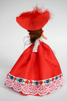 Luxembourg Doll Dressed in Red