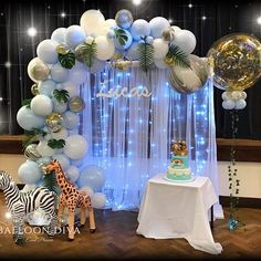 31 New Ideas Baby Boy Shower Decorations Safari Birthday Parties Décoration Baby Shower, Baby Shower Backdrop, Boy Baby Shower Themes, Unique Baby Shower, Baby Shower Balloons, Shower Party, Baby Shower Parties, Baby Shower Planner, Shower Gifts
