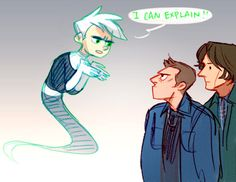 By hoursago on Tumblr. LOVE. SUPERNATURAL DANNY PHANTOM CROSSOVER.