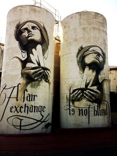 Artist: Faith47 Location: Stellenbosch - South Africa Photo: Carole Moreau - Street Art in Cape Town