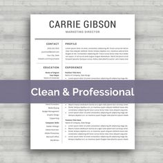 Professional Resume Template Instant Download  by SelectTemplates