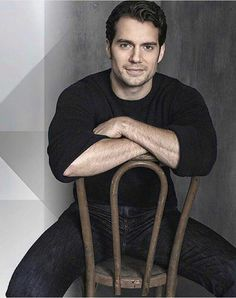 Henry Cavill-Never have I wanted to be chair so badly!