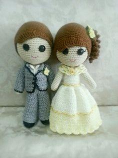 Amigurumi wedding bears: crochet pattern - Amigurumi Today | 314x236