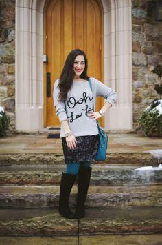 Ooh La La Sweater and Sequins!