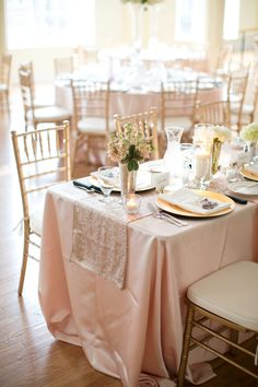 Pale Pink and Gold Wedding | photography by http://www.hsrphoto.com