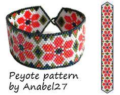 Patrón de flor peyote pulsera verano patrón - patrón de grano #11