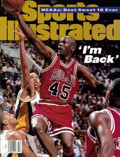 March 1995 Sports Illustrated via Getty Images Cover: Basketball: Chicago Bulls Michael Jordan in action, layup vs Indiana Pacers Reggie Miller . game back after coming out of retirement. Get premium, high resolution news photos at Getty Images Michael Jordan Basketball, Michael Jordan Chicago Bulls, Mike Jordan, Jordan Swag, All Star, Michael Jordan Pictures, Jordan Photos, Si Cover, Reggie Miller