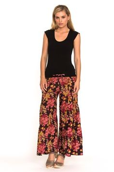 We're offering you the perfect summer collection of women's cotton fashion Harem Pants, Pajama Pants, Trousers, Buy Skirts Online, Summer Collection, Floral, Fabric, Cotton, Dark