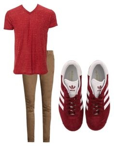 """Untitled #710"" by melissa-mcvey-courtemanche on Polyvore featuring adidas, Balmain, Simplex Apparel, men's fashion and menswear"