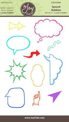 Speech Bubbles Clear Stamps - Joy Clair