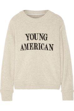 b413c87e2 The Elder Statesman - Young American intarsia cashmere sweater