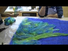 Nuno Felt Semi-Circular Wrap - Joni Cornell - Part 1 - YouTube