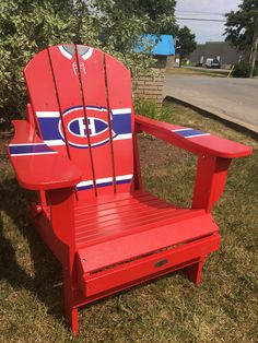 Go Habs Go! Show your support on gameday for the Montreal Canadiens in one of our customizable Adirondack chairs, perfect for watching every goal. Adirondack Rocking Chair, Adirondack Chairs, Outdoor Chairs, Rocking Chairs, Montreal Canadiens, Karim Rashid, Plywood Furniture, Hockey Decor, Design Studio