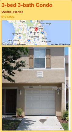 3-bed 3-bath Condo in Oviedo, Florida ►$174,900 #PropertyForSale #RealEstate #Florida http://florida-magic.com/properties/72355-condo-for-sale-in-oviedo-florida-with-3-bedroom-3-bathroom