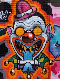 Joe Brask ~ Copenhagen – Graffiti Street Art ~ Clown