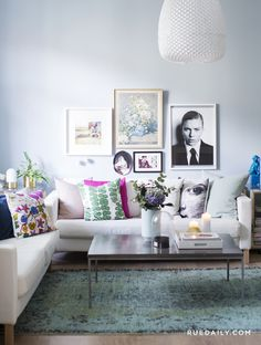 A pastel-perfect norwegian home