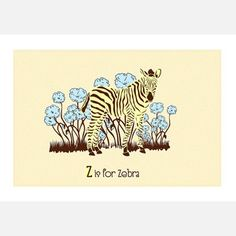 Z is for Zebra 14x11 now featured on Fab.