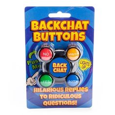 Novelty Talking Backchat Buttons