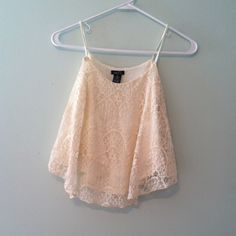 White lace crop top Perfect for summer Tops Crop Tops