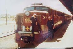 Me & late John Turci, engine 907 train at Port Pirie,