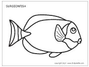 Download Surgeon Fish Template