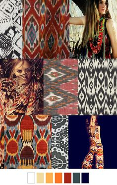 Indonesian Ikat artisan inspiration. Bold, gorgeous color. #colorswatches