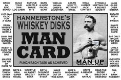 Have you got your man card?