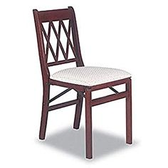 AmazonSmile - Lattice Back Folding Chair in Warm Cherry Finish - Set of 2 - Chairs