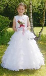 CASCADE SL8499 Sarah Louise White Organza Communion Dress