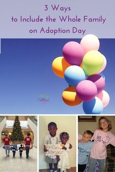 3 Ways to Include the Whole Family on Adoption Day| The Holy Mess. Adoption days are awesome! It's a great day for the child who is being adopted, and it's also a special day for the whole family. Here are 3 ways to make it great for everyone. Ideas for matching family outfits, adoption parties and celebrations, and adoption gifts.
