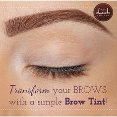 Brow tint for beautiful, perfect eyebrow shape and color!